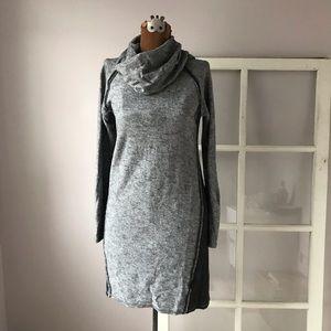 Kuhl cowl neck gray sweater dress